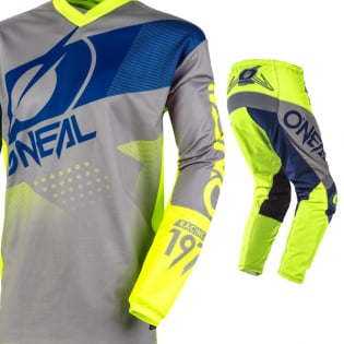 ONeal Element Factor Grey Blue Yellow Jersey Image 2