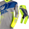 ONeal Element Factor Grey Blue Yellow Jersey
