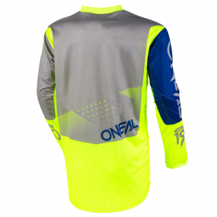 ONeal Element Factor Grey Blue Yellow Jersey Image 3