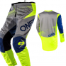 ONeal Element Factor Grey Blue Yellow Pants