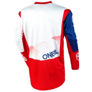 ONeal Element Factor White Blue Red Jersey Image 3