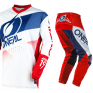 ONeal Element Factor White Blue Red Pants