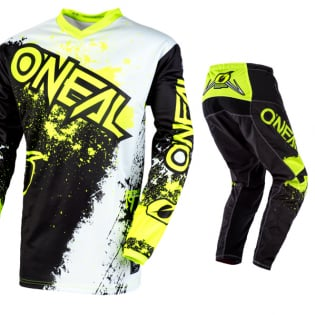 ONeal Element Impact Black Neon Yellow Jersey Image 2