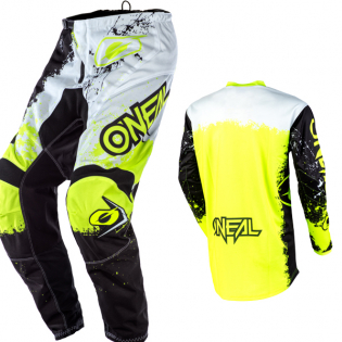 ONeal Element Impact Black Neon Yellow Jersey Image 4