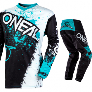 ONeal Element Impact Black Teal Pants Image 2