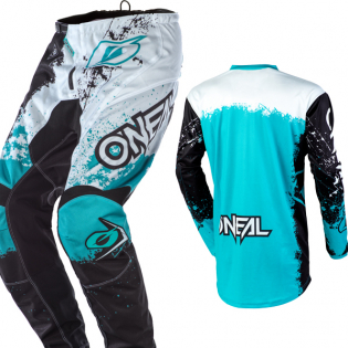 ONeal Element Impact Black Teal Pants Image 4