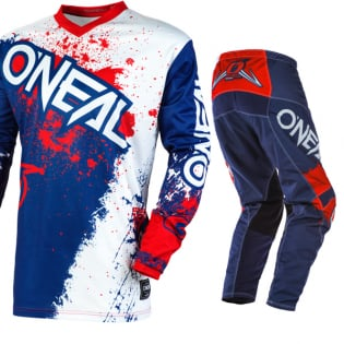 ONeal Element Impact Blue Red Pants Image 2