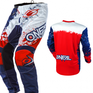ONeal Element Impact Blue Red Pants Image 4