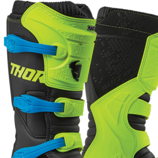 Thor Blitz XP Flo Yellow Black Boots Image 2
