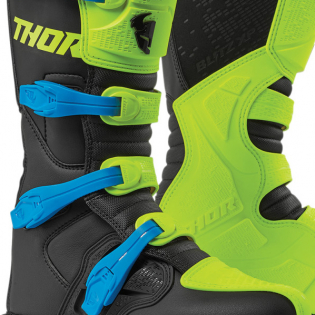 Thor Blitz XP Flo Yellow Black Boots Image 3