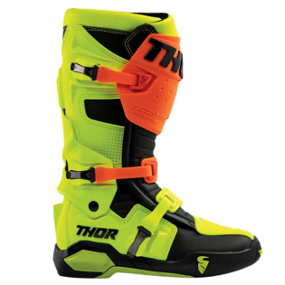 Thor Radial Flo Orange Yellow Boots Image 2