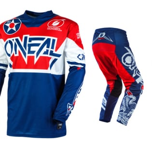 ONeal Element Warhawk Blue Red Pants Image 2