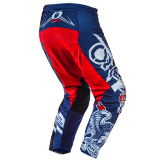 ONeal Element Warhawk Blue Red Pants Image 3