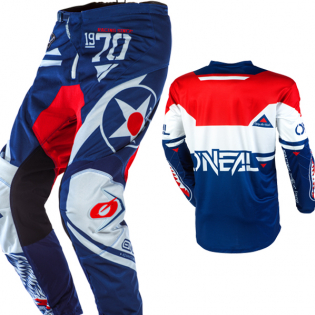 ONeal Element Warhawk Blue Red Pants Image 4