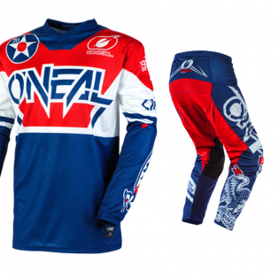 ONeal Element Warhawk Blue Red Jersey Image 2
