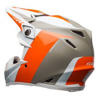 Bell Moto 9 Carbon Flex Division White Orange Sand Helmet  Image 2