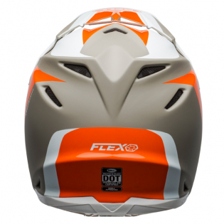 Bell Moto 9 Carbon Flex Division White Orange Sand Helmet  Image 3