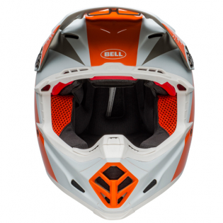 Bell Moto 9 Carbon Flex Division White Orange Sand Helmet  Image 4