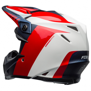 Bell Moto 9 Carbon Flex Division White Blue Red Helmet  Image 2