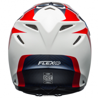 Bell Moto 9 Carbon Flex Division White Blue Red Helmet  Image 3