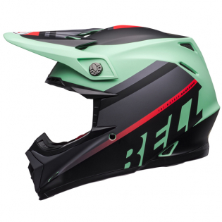 Bell Moto 9 MIPS Prophecy Green Infrared Black Helmet Image 2