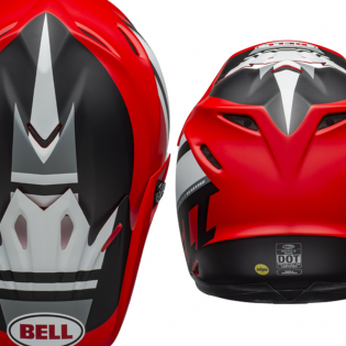 Bell Moto 9 MIPS Prophecy White Red Black Helmet Image 3