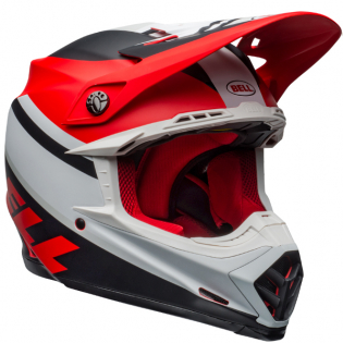 Bell Moto 9 MIPS Prophecy White Red Black Helmet Image 4