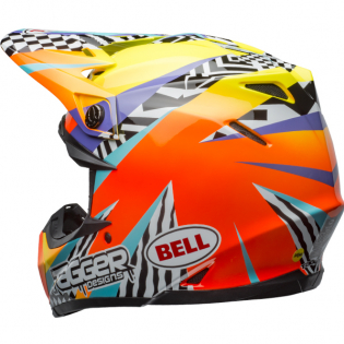 Bell Moto 9 MIPS Tagger Breakout Orange Yellow Helmet Image 2