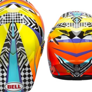 Bell Moto 9 MIPS Tagger Breakout Orange Yellow Helmet Image 3