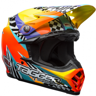 Bell Moto 9 MIPS Tagger Breakout Orange Yellow Helmet Image 4