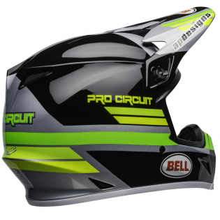 Bell MX9 MIPS PC Black Green Helmet Image 2