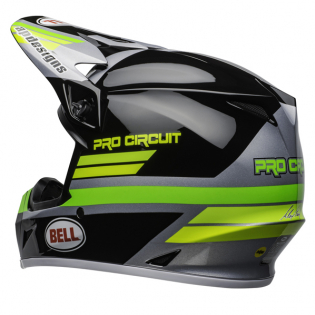 Bell MX9 MIPS PC Black Green Helmet Image 3