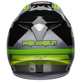 Bell MX9 MIPS PC Black Green Helmet Image 4