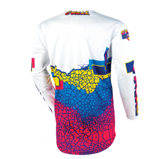 ONeal Mayhem Lite Crackle 91 Yellow White Blue Jersey Image 3