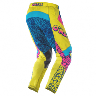 ONeal Mayhem Lite Crackle 91 Yellow White Blue Pants Image 3