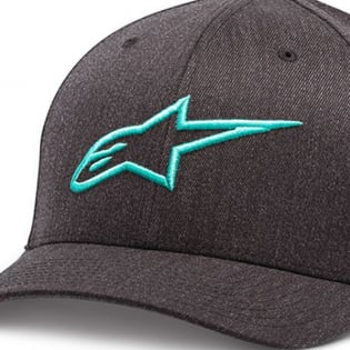 Alpinestars Ageless Curve Cap - Charcoal Heather Turquoise Image 2