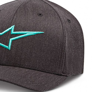 Alpinestars Ageless Curve Cap - Charcoal Heather Turquoise Image 4