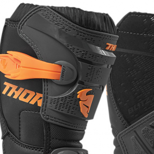 Thor Kids Blitz XP Charcoal Orange Boots Image 2