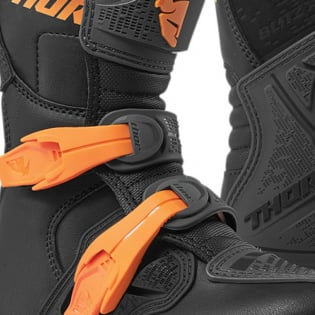 Thor Kids Blitz XP Charcoal Orange Boots Image 3