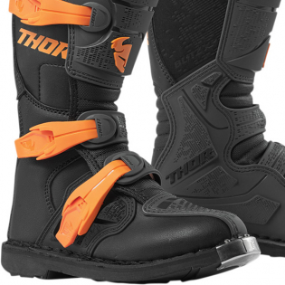 Thor Kids Blitz XP Charcoal Orange Boots Image 4
