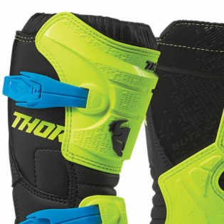 Thor Kids Blitz XP Flo Yellow Black Boots Image 2