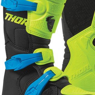 Thor Kids Blitz XP Flo Yellow Black Boots Image 3