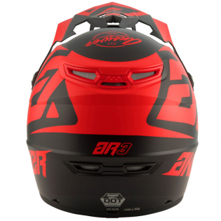 Answer AR3 Bold Black Red Helmet Image 2