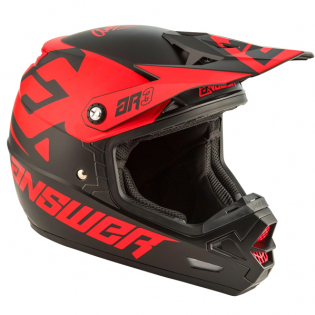 Answer AR3 Bold Black Red Helmet Image 3