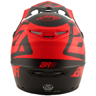 Answer AR3 Bold Black Red Helmet Image 4