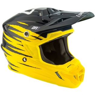 Answer AR1 Pro Glo Yellow Midnight White Helmet Image 2