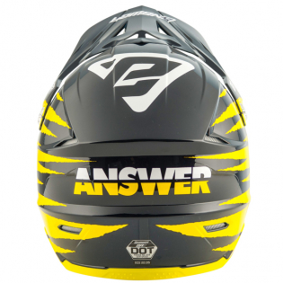 Answer AR1 Pro Glo Yellow Midnight White Helmet Image 4