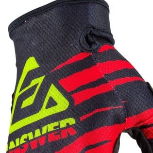 Answer AR-1 Glo Pro Red Black Hyperacid Gloves Image 2