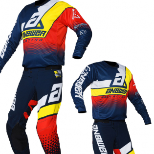 Answer Elite Midnight White Yellow Red Kit Combo Image 3