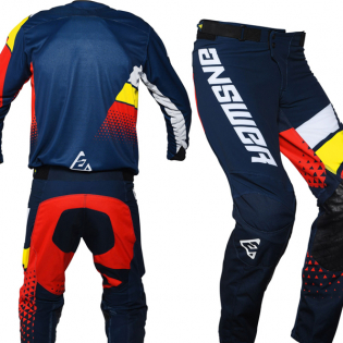 Answer Elite Midnight White Yellow Red Pants Image 4